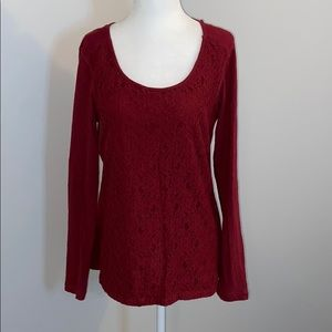 EDDIE BAUER SHIRT LONG SLEEVE w Lace Front…